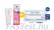 Conceive Plus spermabarát síkosító, kálcium- és magnéziumionnal - 30 ml-es + 5 db One Step TERHESSÉGI tesztcsík - 10 mIU/ml - 2,5 mm széles (AIDE)