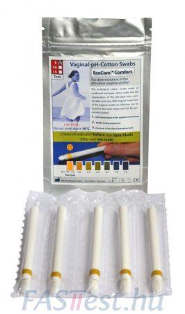 EcoCare hüvelyi pH-mérő pálcika - 5 db-os