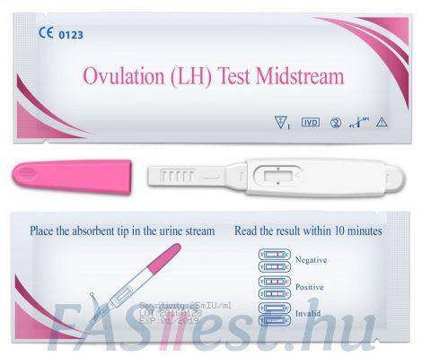 OVULÁCIÓS teszt vizeletsugaras 25 mIU/ml (Egens)