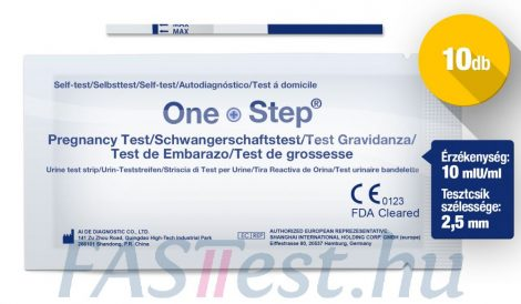 One Step TERHESSÉGI tesztcsík - 10 db - 10 mIU/ml - 2,5 mm széles (AIDE)
