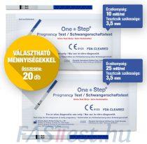 One Step TERHESSÉGI tesztcsík - 20 db-os VÁLASZTHATÓ ÉRZÉKENYSÉG / DARABSZÁM