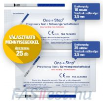 One Step TERHESSÉGI tesztcsík - 25 db-os VÁLASZTHATÓ ÉRZÉKENYSÉG / DARABSZÁM