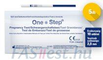 One Step TERHESSÉGI tesztcsík - 5 db - 10 mIU/ml - 2,5 mm széles (AIDE)