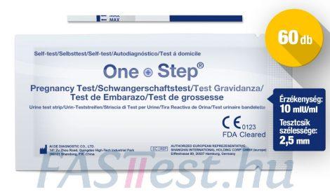 One Step TERHESSÉGI tesztcsík - 60 db - 10 mIU/ml - 2,5 mm széles (AIDE)